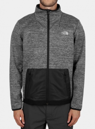 Bluza The North Face Thermal Windwall Full Zip - blk heather