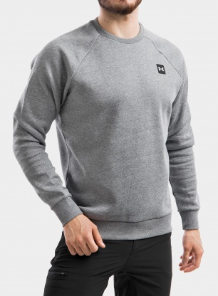 Bluza Under Armour Rival Fleece Crew - pitch gray light heather