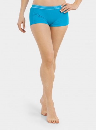 Bokserki damskie Brubeck Active Wool Boxer Shorts - light blue