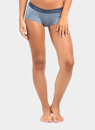 Bokserki damskie Icebreaker Sprite Hot Pants - gravel/serene blue