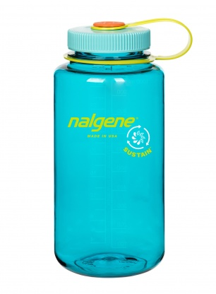Butelka Nalgene Sustain Wide Mouth 1L - cerulean