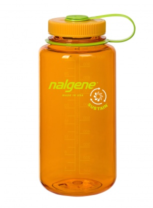 Butelka Nalgene Sustain Wide Mouth 1L - clementine
