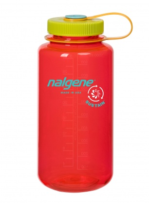 Butelka Nalgene Sustain Wide Mouth 1L - pomegranate