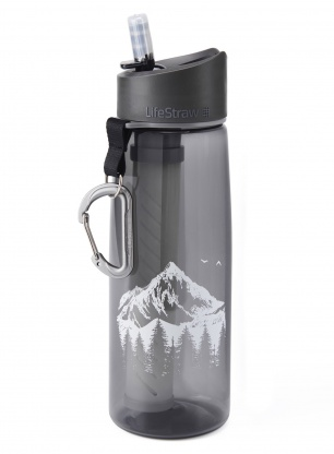 Butelka z filtrem Lifestraw Go 2-stage - mountain grey