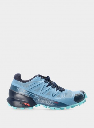 Buty trailowe damskie Salomon Speedcross 5 GTX - blue/navy