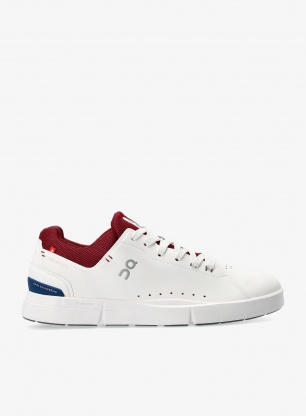 Buty outdoorowe On Running The Roger Advantage - white/mulberry
