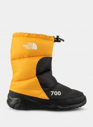 Buty zimowe The North Face Nuptse Bootie 700 - gold/black