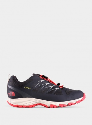 Damskie buty The North Face Venture Fastlace GTX - blackend pearl/red