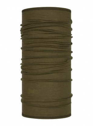 Chusta Buff Lightweight Merino Wool - solid bark