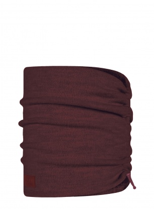 Komin Buff Merino Wool Fleece Neckwarmer - maroon