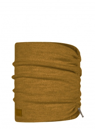 Komin Buff Merino Wool Fleece Neckwarmer - ochre