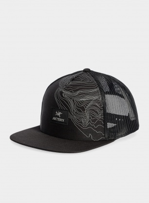 Czapka Arcteryx Topographical Trucker - black