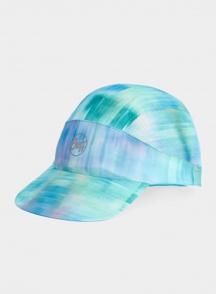 Czapka biegowa Buff Pack Run Cap - marbled turquoise
