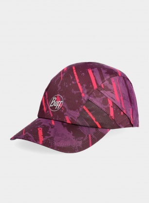 Czapka biegowa Buff Pro Run Cap - stray pink
