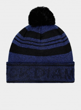 Czapka Black Diamond Pom Beanie - black/blue