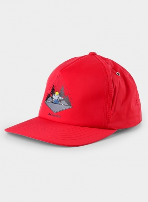 Czapka z daszkiem Columbia Washed Out Ball Cap - mountain red