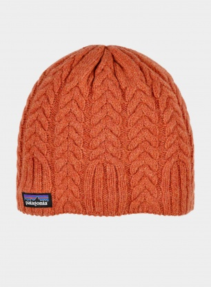 Czapka damska Patagonia Cable Beanie - sunset orange