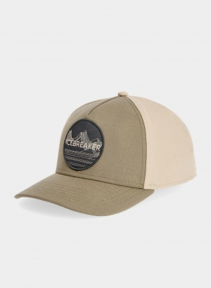 Czapka z daszkiem Icebreaker Graphic Hat - flint/british tan