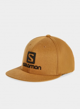Czapka z daszkiem Salomon Logo Cap Flexfit - bronze brown