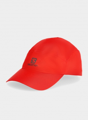 Czapka z daszkiem Salomon Waterproof Cap - goji berry