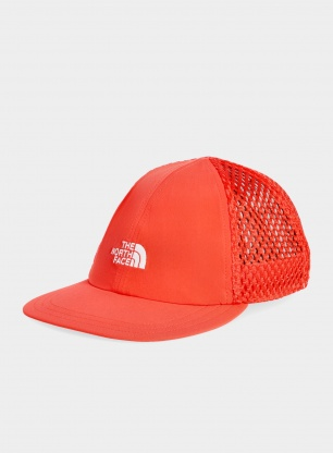 Czapka z daszkiem The North Face Runner Mesh Cap - hor. red