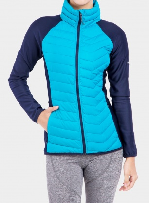 Kurtka hybrydowa damska Columbia Powder Lite Fleece - fj. blue