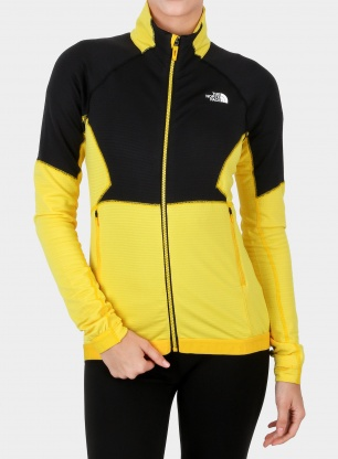 Damska bluza The North Face Impendor New Midlayer - tnf black/yellow