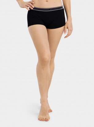 Damskie bokserki Brubeck Active Wool Boxer Shorts - black