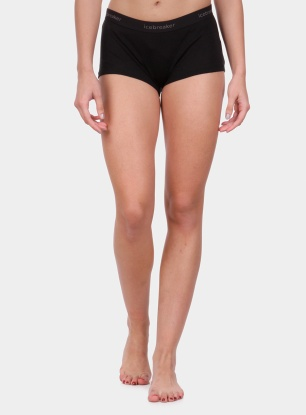Damskie bokserki Icebreaker 175 Everyday Boy Shorts - black