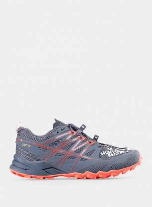 Damskie buty trailowe The North Face Ultra Mt II GTX - grisaille grey/fiery coral