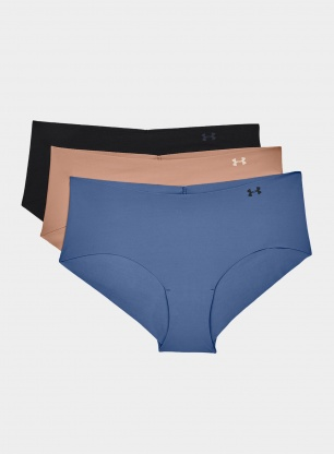 Figi Under Armour PS Hipster 3 Pack - black/nude/mineral blue