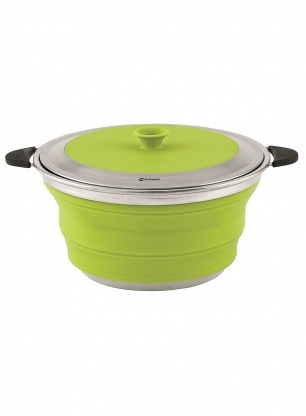 Garnek Outwell Collaps Pot with Lid 4,5l - lime green