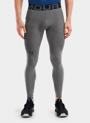 Getry Under Armour HG Armour Leggings - carbon heather/black