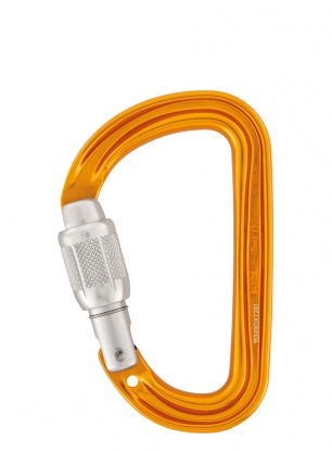 Lekki karabinek Petzl SmD Screw-Lock - orange