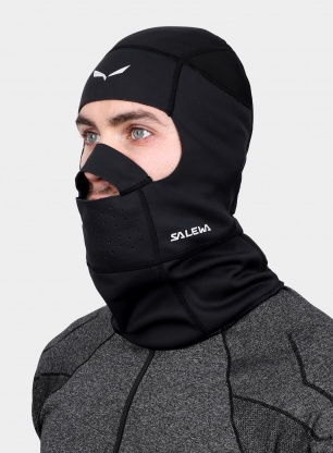 Kominiarka softshellowa Salewa Ortles WS Balaclava - black out