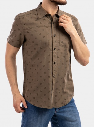 Koszula Black Diamond Solution Shirt S/S - sergeant print