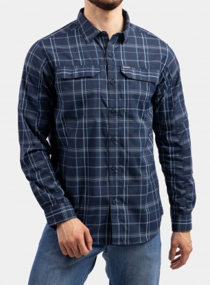 Koszula Columbia Silver Ridge 2.0 Plaid L/S Shirt - collegiate navy