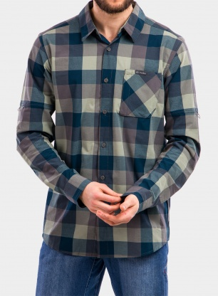 Koszula Columbia Triple Canyon LS Shirt - city grey grid buffalo