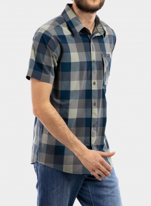 Koszula Columbia Triple Canyon S/S Shirt - city grey grid buffalo