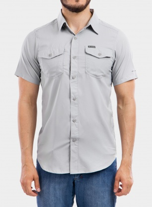 Koszula Columbia Utilizer II Solid S/S Shirt - columbia grey
