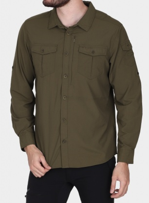 Koszula Craghoppers NosiLife Adventure II L/S Shirt - dark moss