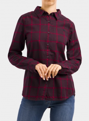 Koszula damska Black Diamond Serenity LS Flannel Shirt - bordeaux/verm