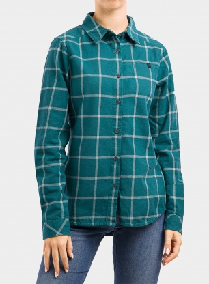 Koszula damska Black Diamond Serenity LS Flannel Shirt - pine/blue