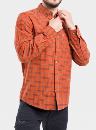 Koszula Fjallraven Ovik Flannel Shirt - autumn leaf