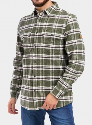 Koszula Fjallraven Ovik Heavy Flannel Shirt - deep forest