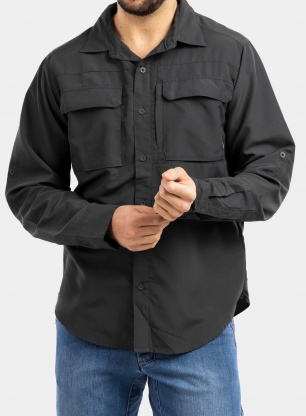 Koszula The North Face Sequoia Shirt L/S - asphalt grey