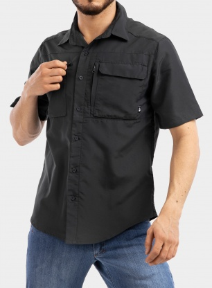 Koszula The North Face Sequoia Shirt S/S - asphalt grey