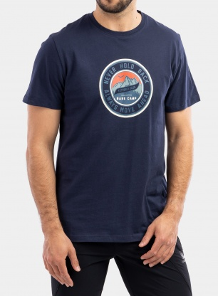 Koszulka bawełniana Craghoppers Mightie S/S T-Shirt - blue navy circle