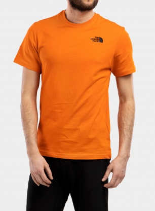 Koszulka bawełniana The North Face Red Box Tee S/S - flame
