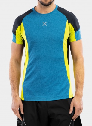 Koszulka biegowa Montura Run Energy T-Shirt - teal blue/lime green